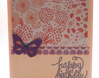 Butterfly blank birthday greeting card