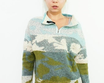 MARC CAIN Vintage 90's Mohair Blend Knit Jumper