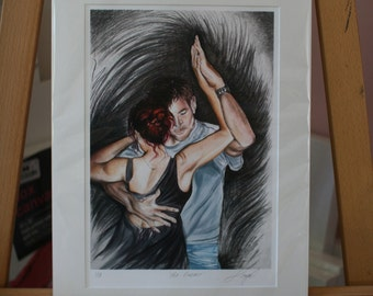"Valentine Art ~ Salsa Painting ""The Embrace"" Colour Giclée Print A3"