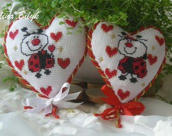 heart , embroidered heart, Valentine's Day , Valentine's Day gifts for the holiday of lovers, embroidered gifts , gifts for the holiday