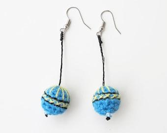 Crochet Jewelry Earrings Handmade Textile Jewelry