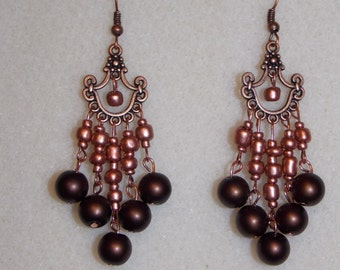 Copper Chandelier Earring