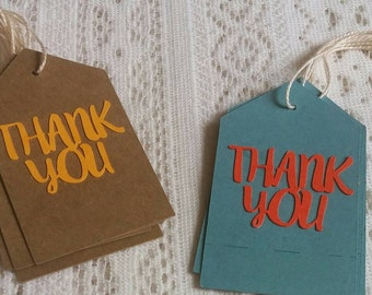 Thank you tags-Shower/party/ Gift/favor tags. Choose your color(s)