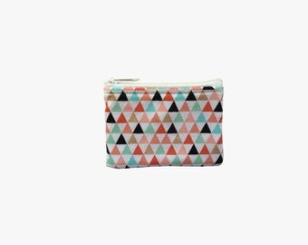 Triangles Coin Bag // Change Purse // Pouch