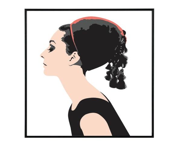 Audrey hepburn by artworkbylynda on etsy for Ikea audrey hepburn