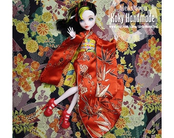 handmade Monster high kimono---Red