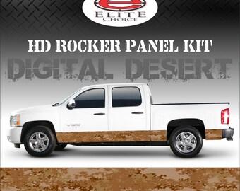 "Digital Desert Camo Rocker Panel Graphic Decal Wrap Truck SUV - 12"" x 24FT"