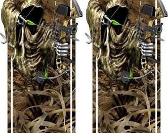 Deer Buck Reaper Grass Camo Truck Bed Band Race Stripes Decal Sticker Graphics