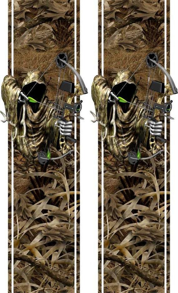 Deer Buck Reaper Grass Camo Truck Bed Band Race Stripes Decal