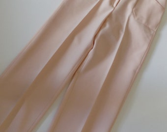 1970s Vintage High Waist Peach/Pink Bell Bottoms