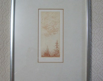 Howard Lessnick Etching, Print, Signed & Numbered, 219/300, Vintage