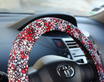steering wheel cover with flowers