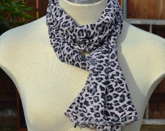 Cheetah Print, Light Pink with Black,Gift Idea for her, women, scarves