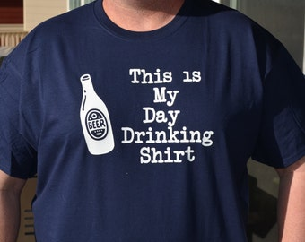 "Glow in the Dark T-shirt ""This is my day drinking shirt"" - Personalized - Customizable - Drinking shirt - Party shirt"