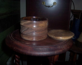 turned wooden jewelry box