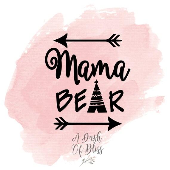 Mama Bear Decal Car Decal Car Sticker Vinyl Decal By