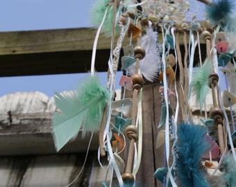 Beach Inspired Aquamarine Dream Catcher