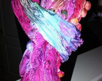 Hand Dyed Silk Shibori Scarf