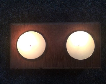 2 Tee light candle holder