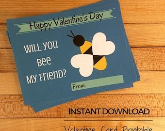 Heart Bee Valentine Card
