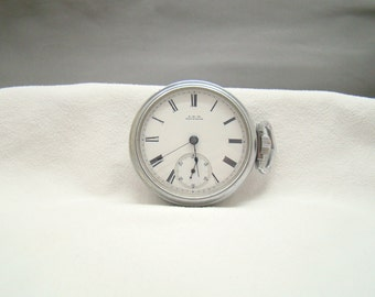 Big vintage 18s 1907 Waltham lever set pocket watch* *Runs*grade PSB*