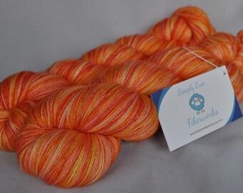 Hand-dyed Lace Yarn, Lace Yarn, Hand-dyed Yarn, Lace Weight Yarn, Superwash Merino, Silk, Lace, Indie Dyed Yarn