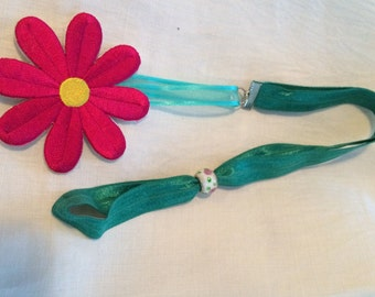 Bookmark, Flower Power-Elastic