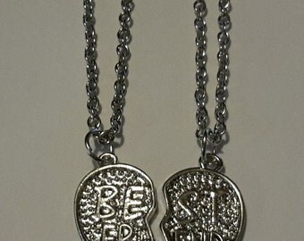 Silver Plated 'Best Friends' Necklace