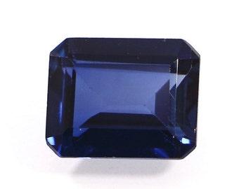 Synthetic Sapphire, Lab Created Gemstone, Synthetic Blue Corundum - Normal Cut Octagon Shape 11x9 mm 11x9mm