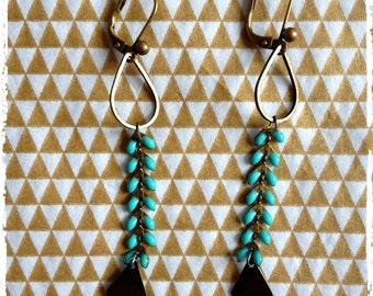 Earrings 'Apple' with its herringbone chain