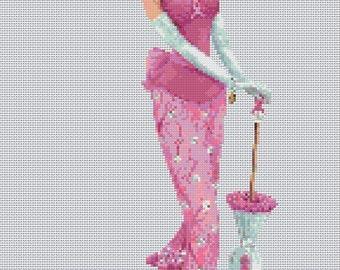Elegant Lady #18 Cross Stitch Chart