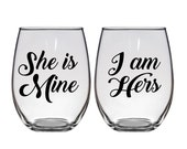 Lesbian Wedding Gift Engagement Present Gay Pride Lesbian LGBT Wine Glasses Card Mr Right Mr Always Right I Do I Do What He Says
