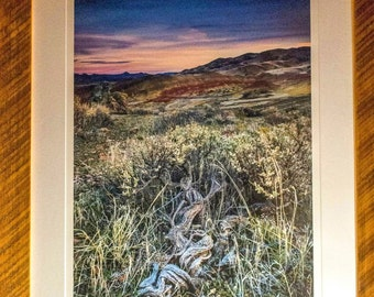 fine art reclaimed barn wood barn wood frame landscape photography 16x24 photograph painted hills oregon