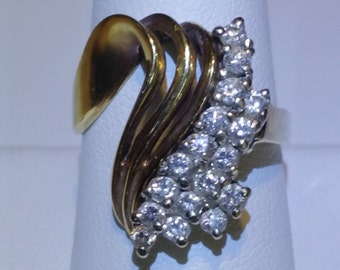 14K Gold and Diamond Ring Sz. 9.25