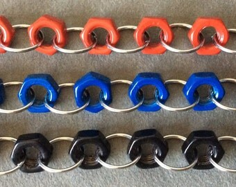 Colourful Hex Nut Bracelet