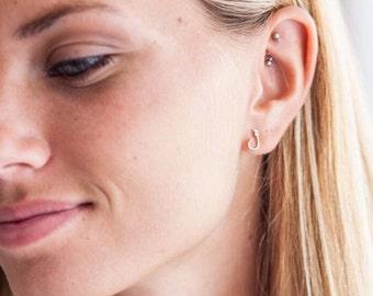 Hook Stud Earrings