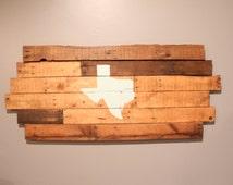 Texas Pallet Wood Wall Decor