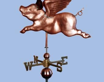 Flying Pig Weathervane - BH-WS-307