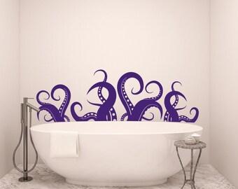 Dandelion wall decal vinyl sticker decals nature flower music for Deep purple bathroom ideas