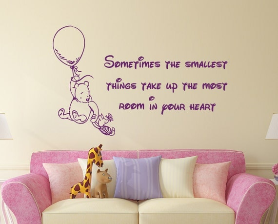 winnie the pooh quote wall decal vinyl sticker decals quotes winnie the pooh wall sticker quote stickythings co za