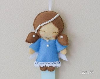 Hair bow holder, Hair bow organizer- Blue angel