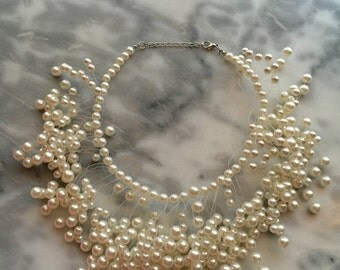 FLOATING PEARL ILLUSION Necklace