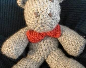 Professor the Crocheted Hippo