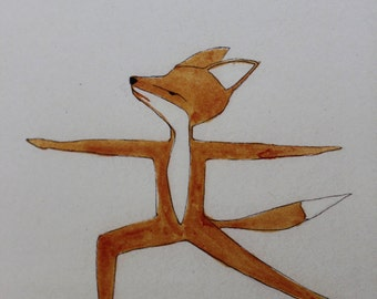 Yoga GIFT CARD - Warrior Fox