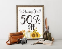 Coupon Code: JWFALL2016 for 50% Off on Purchase of 3 dollars or more, fall decor, autumn decor, printables, printable gifts, printable cards