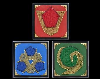 Legend of Zelda Spiritual Stones - set of 3, 6.75in x 6.75in