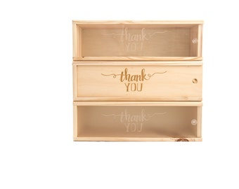Wooden Wine Box (single) - Thank you #2