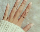 Gold Plated Knuckle Rings for women. Finger Ring 5 Ppcs Ring Set, Silver Plated Knuckle Rings, silver ring set