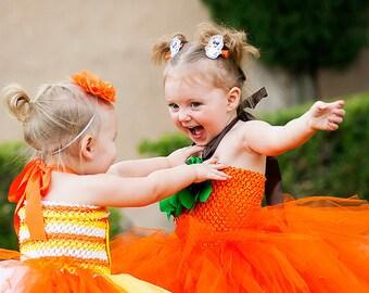 Halloween Pumpkin costume // pumpkin tutu dress // pumpkin costume // Jack o lantern // Halloween tutu costume