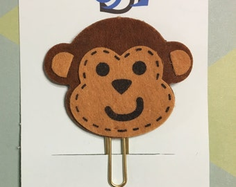 Monkey Planner Clip / Bookmark / Paperclip